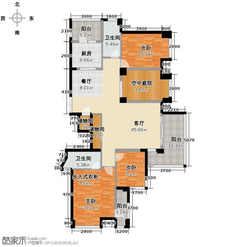 泰然南湖玫瑰湾162.22㎡户型10室