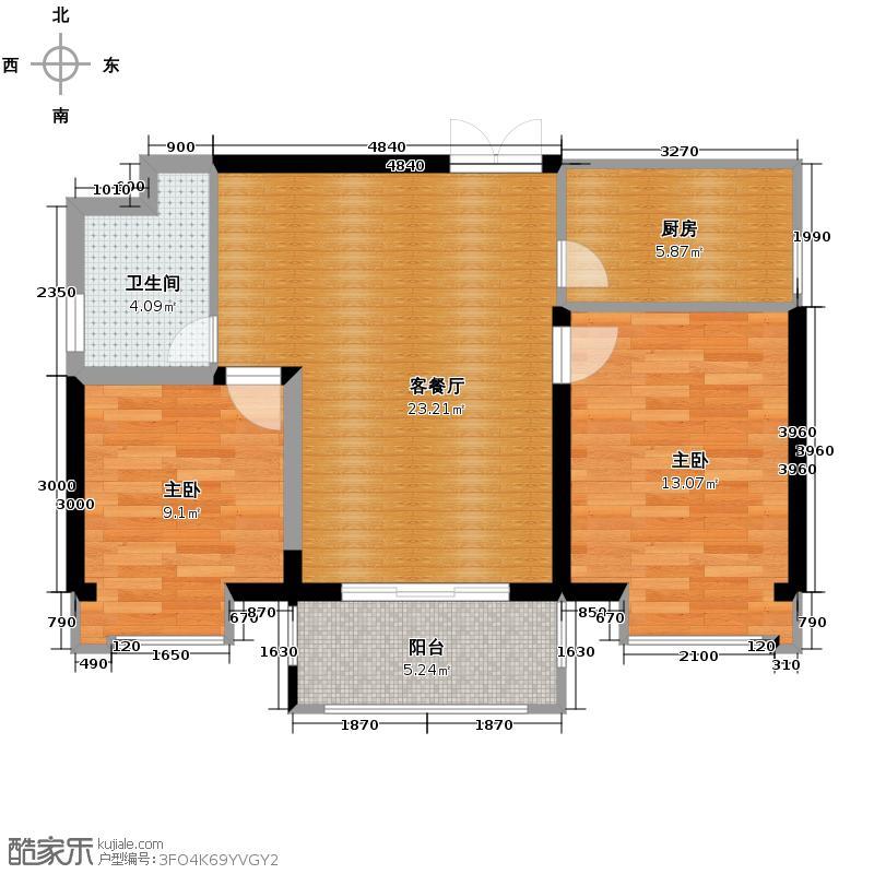 世茂城80.80㎡一期一批次7-8栋B2型户型10室