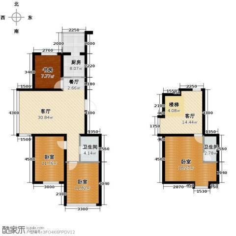 羽丰西江春晓1室2厅2卫1厨137.00㎡户型图