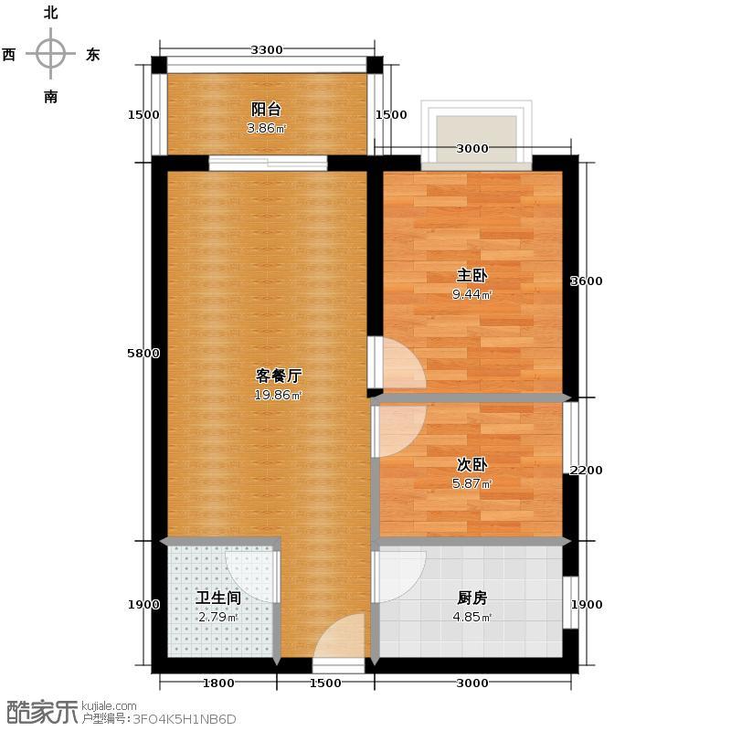 纯翠61.93㎡户型10室