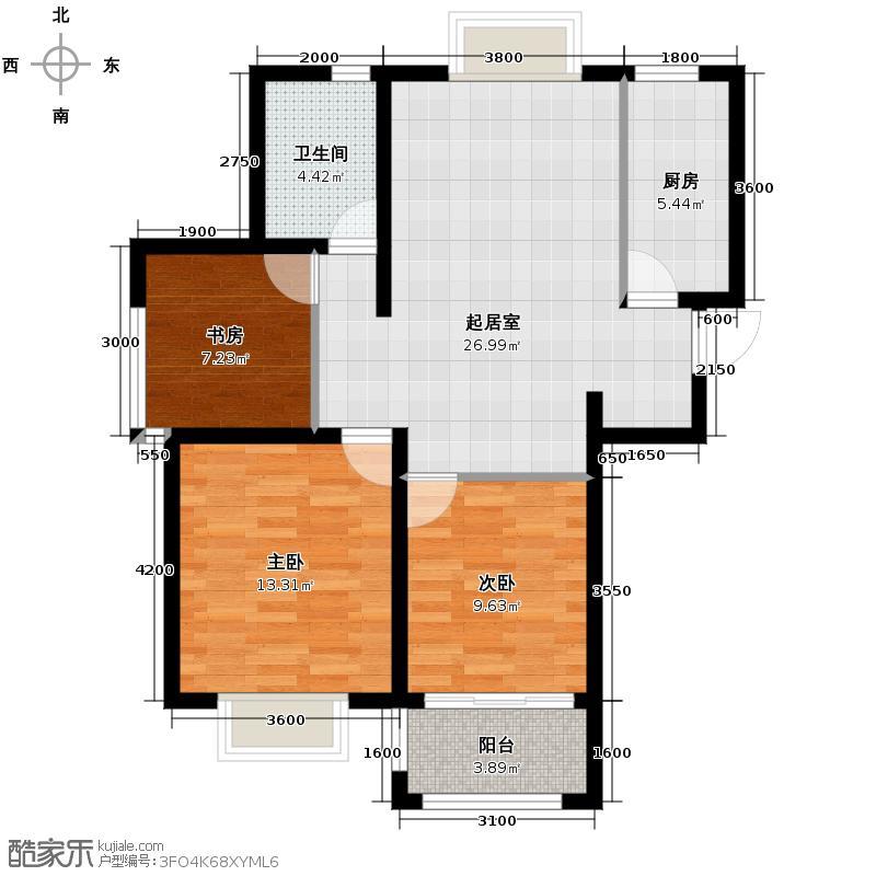 海信凤凰金岸81.22㎡户型3室2厅1卫