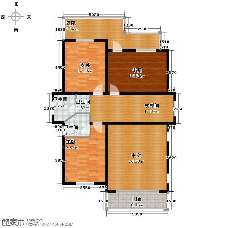 清河湾127.17㎡2-A二层平面图户型10室