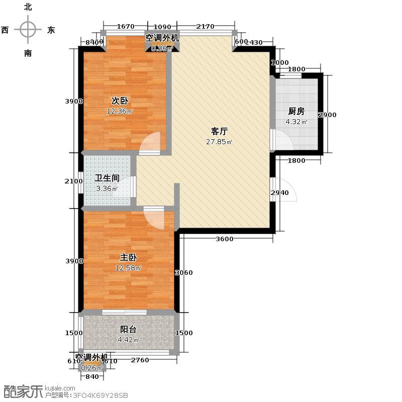 美寓华庭三期高新尚居74.35㎡美寓华庭户型10室
