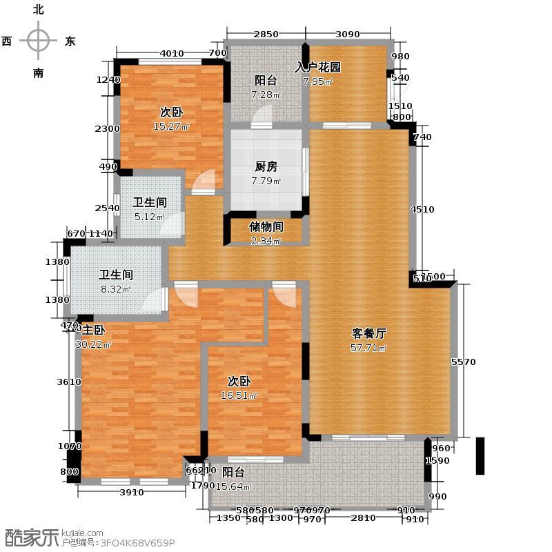 银翔翡翠谷121.31㎡D4户型10室