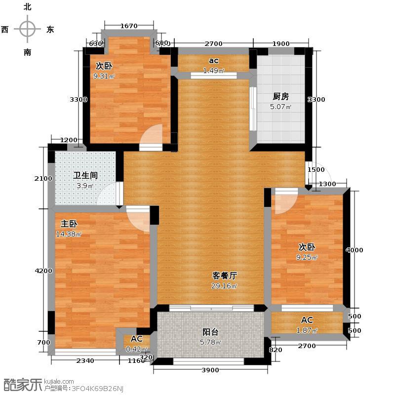恒茂英伦国际92.22㎡户型10室