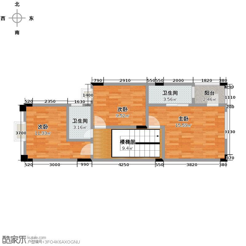 莱茵水岸62.55㎡A2型别墅三层户型10室