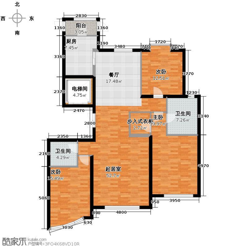东湖湾177.00㎡308#1-02户型10室