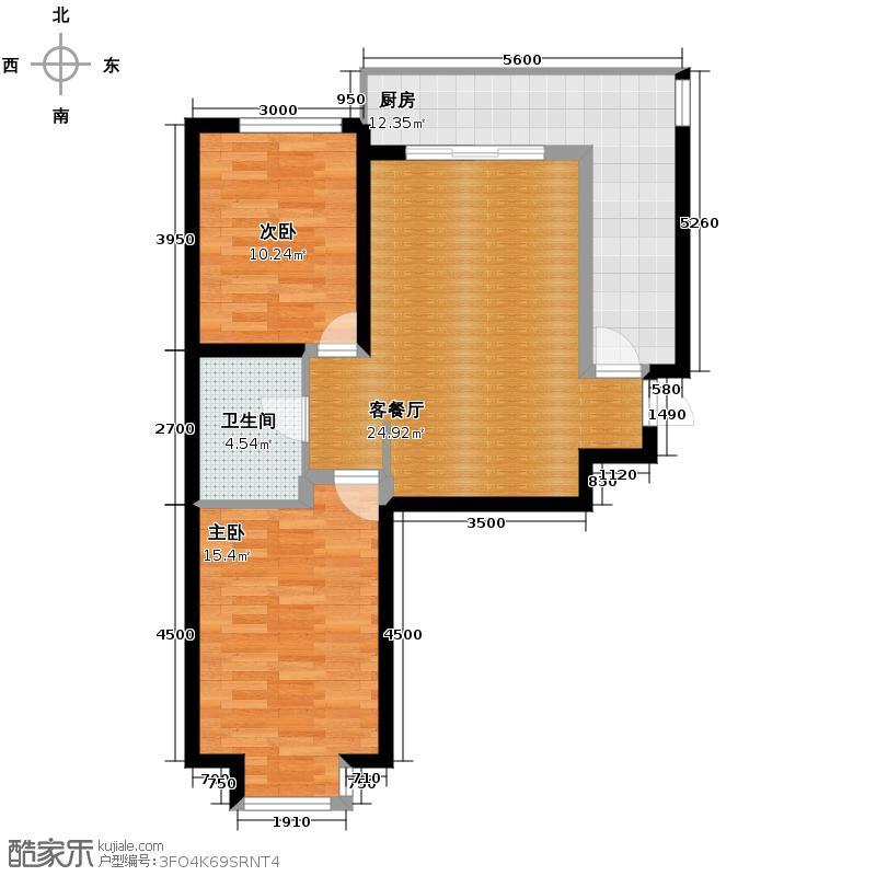 东景苑96.49㎡5号楼C3户型2室2厅1卫