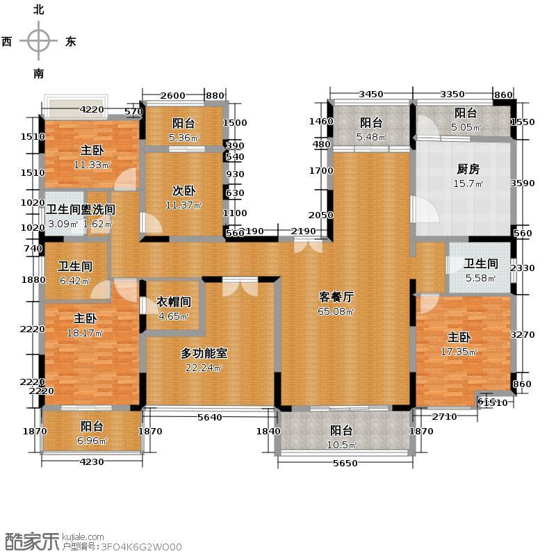 金地湖城大境241.84㎡天字一号6号楼大平层户型10室