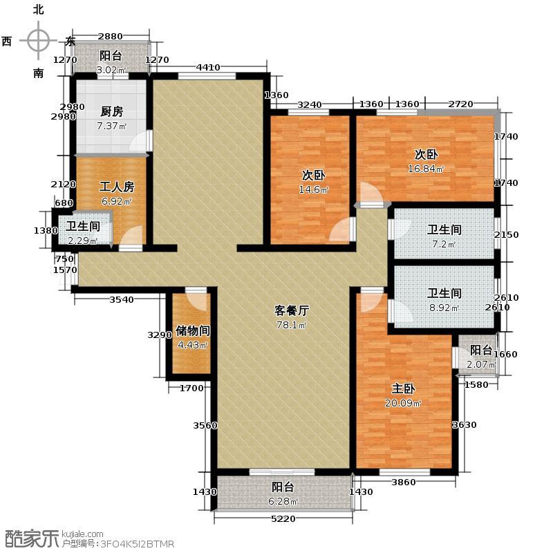海天国际公寓221.74㎡户型10室