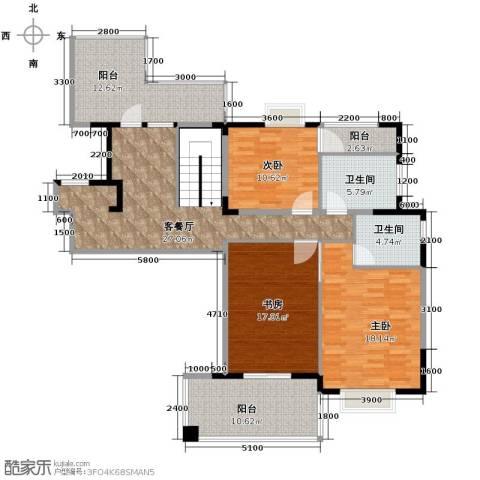 天一城3室1厅2卫0厨153.00㎡户型图