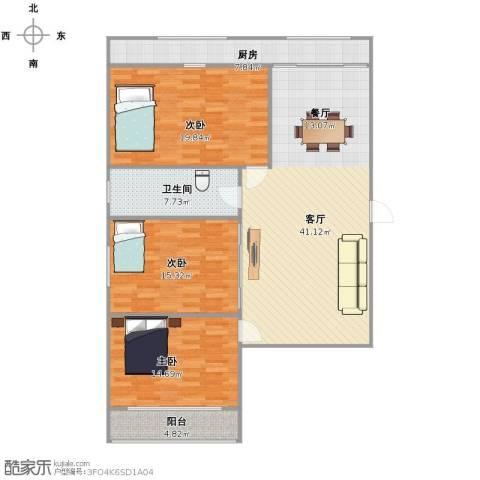 友谊苑3室1厅1卫1厨149.00㎡户型图