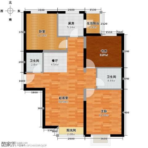星河1852室0厅2卫1厨125.00㎡户型图