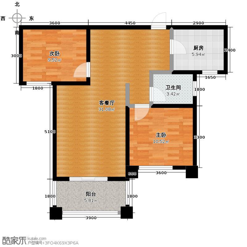 美林青城梧桐道88.00㎡-户型10室