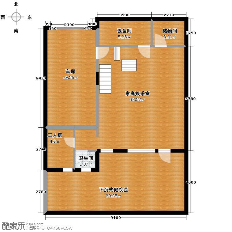 北京湾420.00㎡C地下一层户型10室
