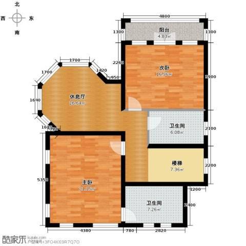 京津新城别墅3室2厅2卫0厨264.00㎡户型图