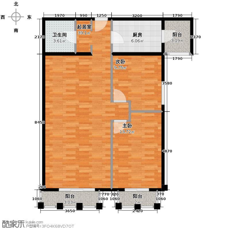 清城时代广场105.50㎡A座标准层-F户型10室