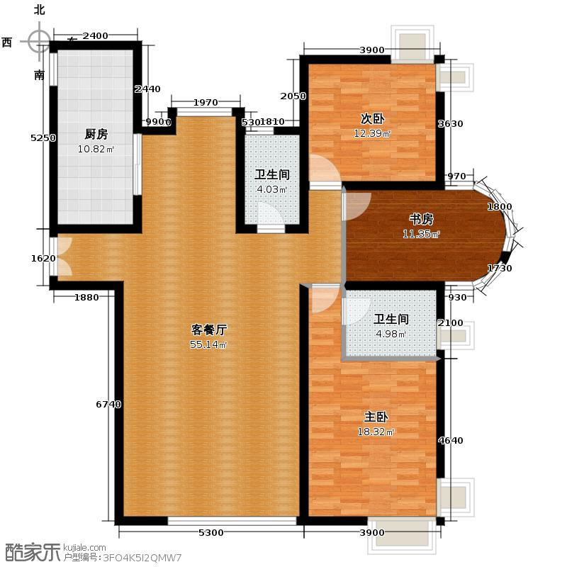 海河大道宽景公寓130.89㎡8号楼金角户型10室
