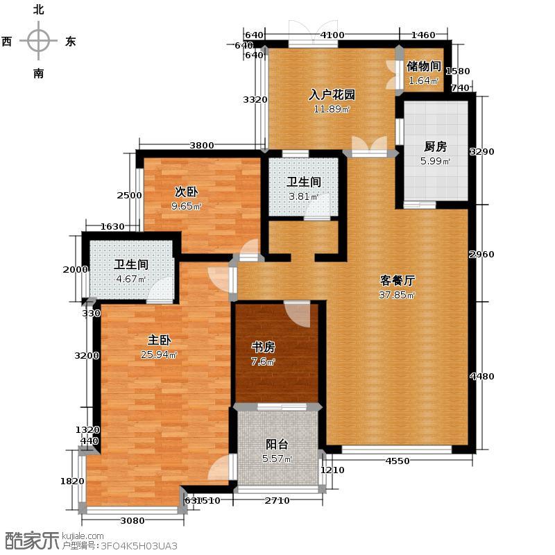 华置西锦城140.00㎡E户型10室
