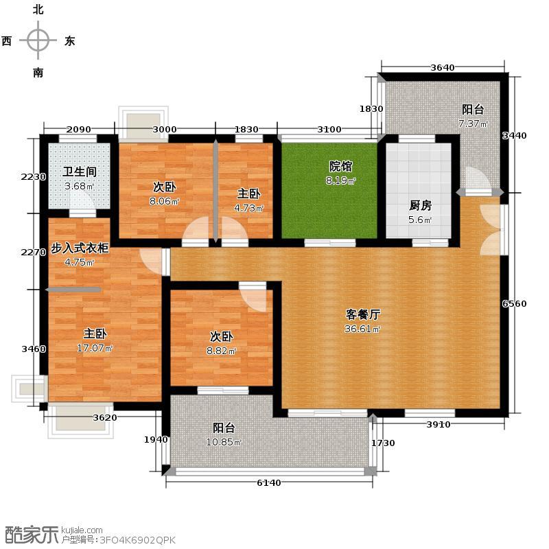 江润地中海岸108.56㎡高层A户型10室