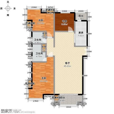 海河大道宽景公寓159.00㎡户型图