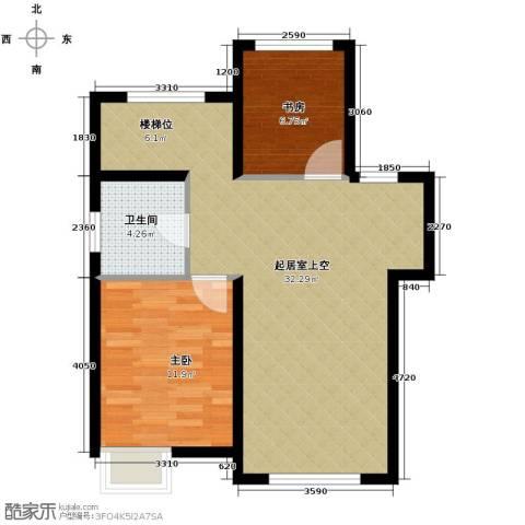 奥克斯盛世年华2室2厅2卫0厨137.00㎡户型图