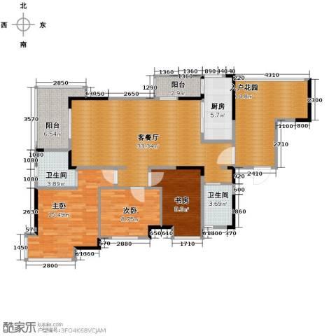清江山水3室2厅2卫0厨116.00㎡户型图