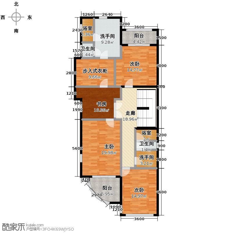 香江别墅II444.00㎡DB1独栋二层户型4室2卫