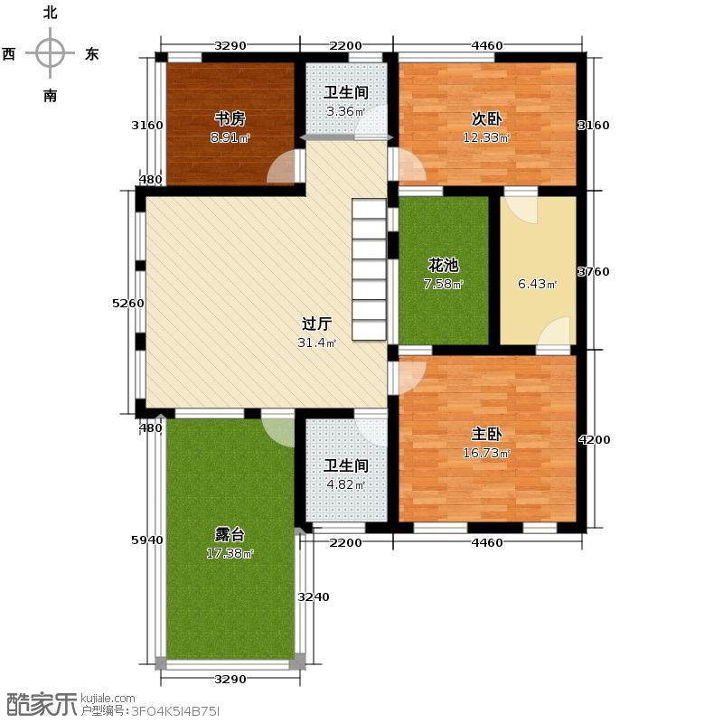 檀香海123.88㎡户型10室