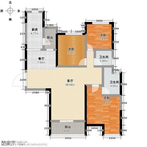 恒大御景湾3室2厅2卫0厨121.00㎡户型图