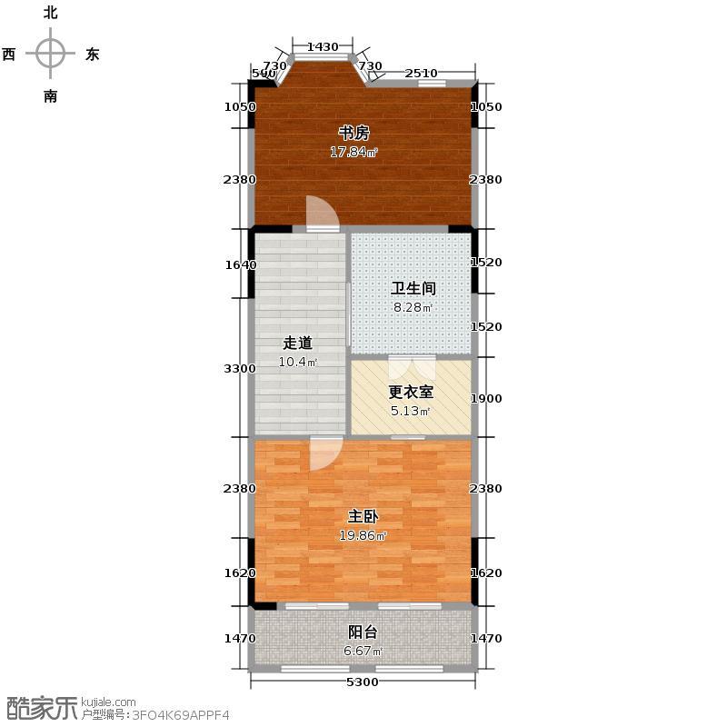 天房锦园199.00㎡B二层户型5室2厅3卫