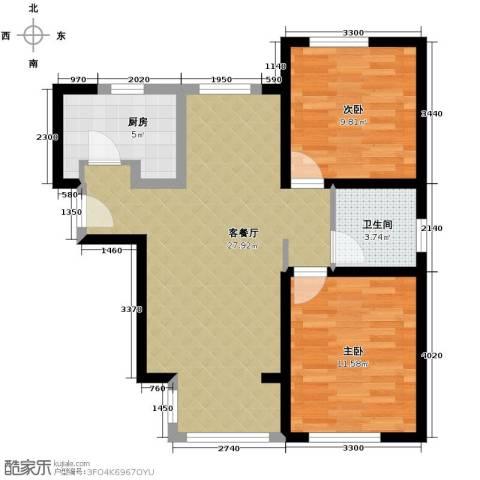 北宁湾2室2厅1卫0厨97.00㎡户型图