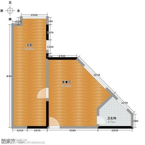 融汇新时代1室1厅1卫0厨49.83㎡户型图