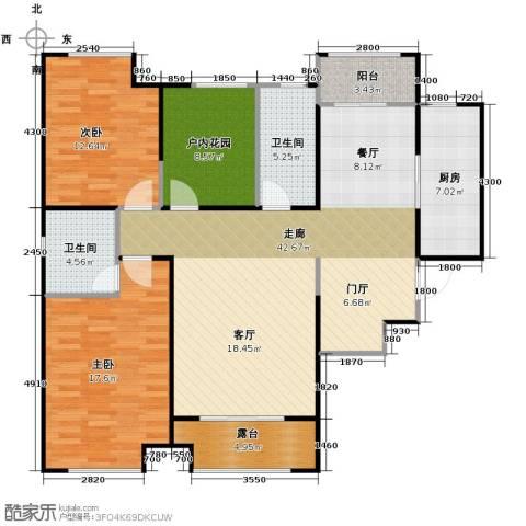 曲江千林郡3室2厅2卫0厨131.00㎡户型图