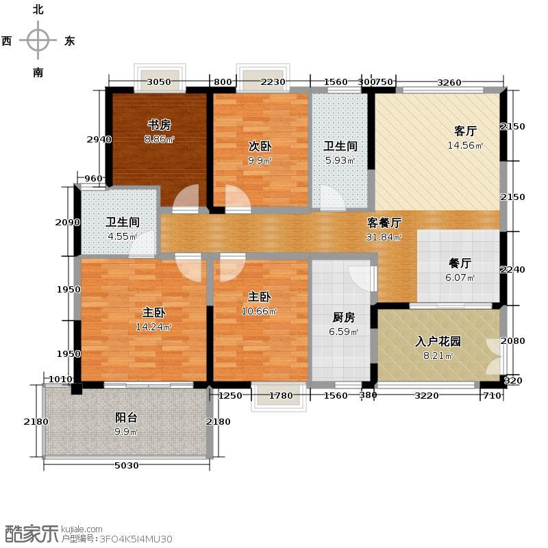 新兴北京御园123.40㎡G-户型10室