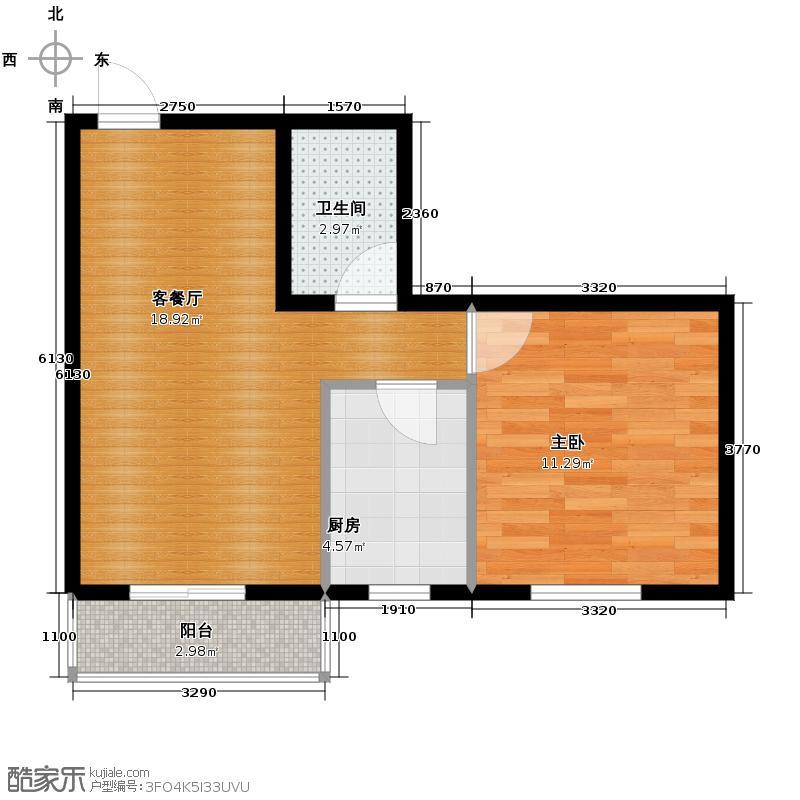 海天国际公寓67.85㎡户型10室