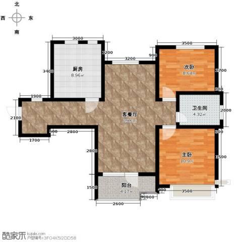 首玺2室2厅1卫0厨106.00㎡户型图