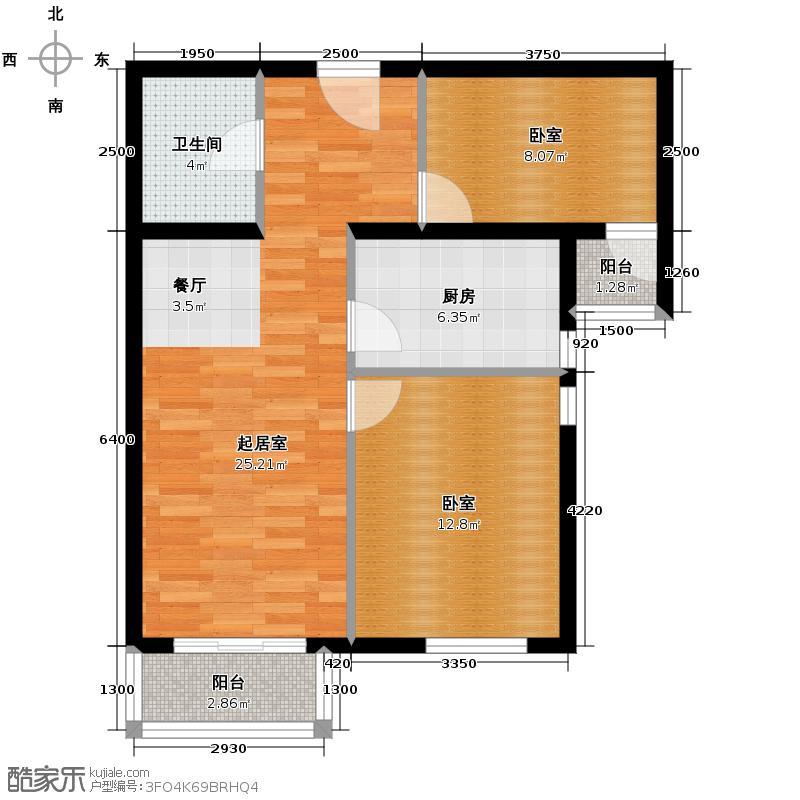 旗胜家园88.00㎡D26-3#4#Q户型10室