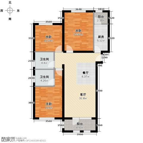 龙湖・香醍溪岸洋房131.00㎡户型图