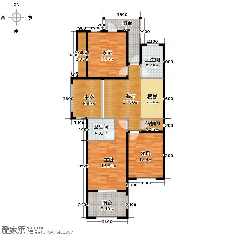 卓越蔚蓝海岸321.21㎡别墅18#101二层户型5室3厅4卫