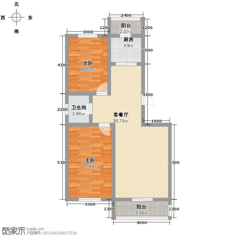 华地榆林苑102.38㎡户型2室1厅1卫1厨