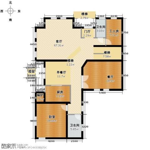 大宁山庄2厅2卫1厨180.00㎡户型图
