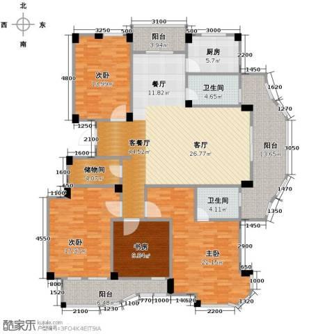 丁香花园4室1厅2卫1厨173.00㎡户型图