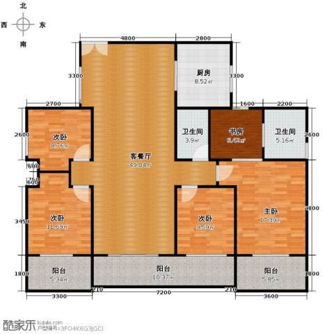 金亨利都荟首府4室2厅2卫0厨142.03㎡户型图