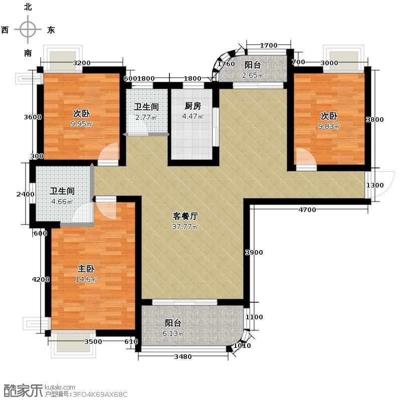 红谷峰尚124.00㎡F3户型3室2厅2卫
