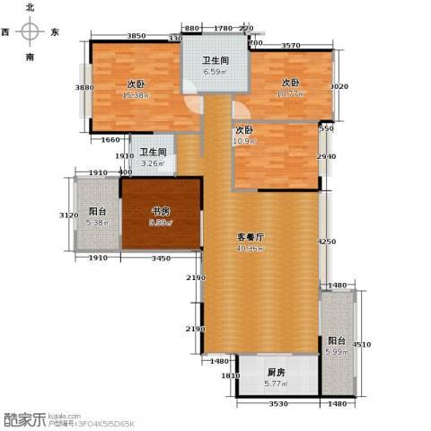 建发中央鹭洲4室2厅2卫0厨125.00㎡户型图
