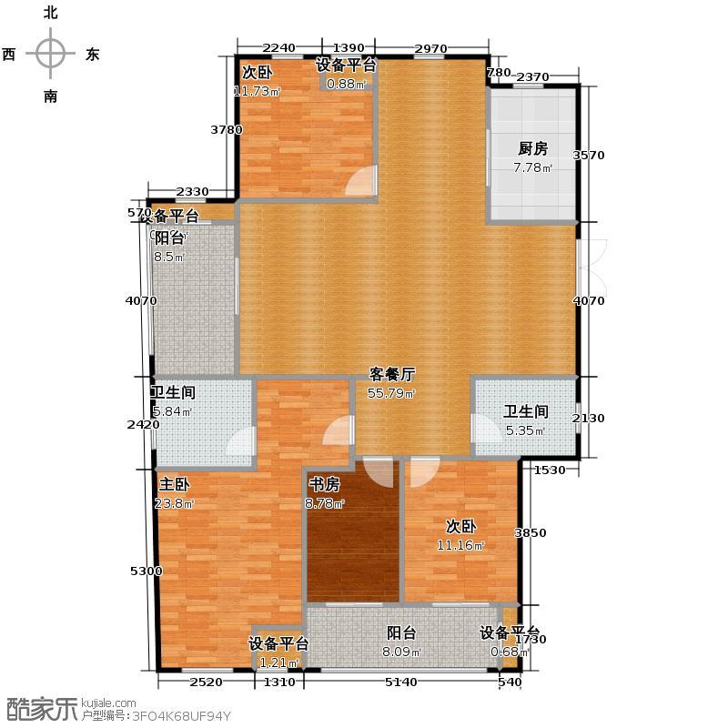 中天锦庭166.00㎡B3户型4室2厅2卫