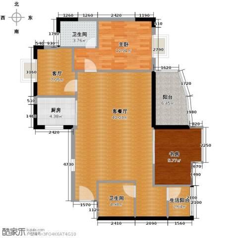 盛和新都会2室2厅2卫1厨127.00㎡户型图