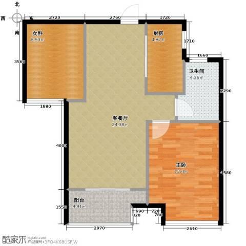 朗诗里程2室2厅1卫0厨70.00㎡户型图