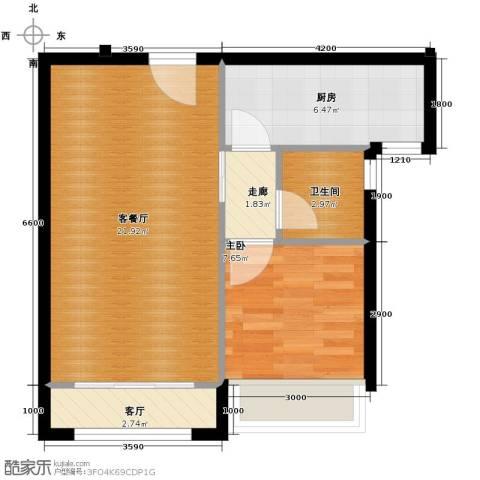 纳帕澜郡1室2厅1卫0厨68.00㎡户型图